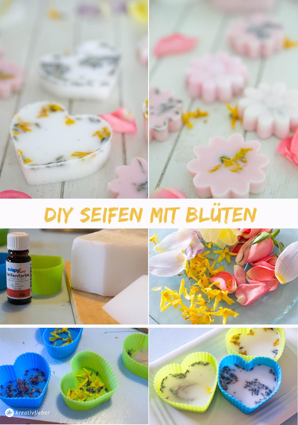 Seife Diy  DIY Seife mit Blüten selber gießen kreativfieber