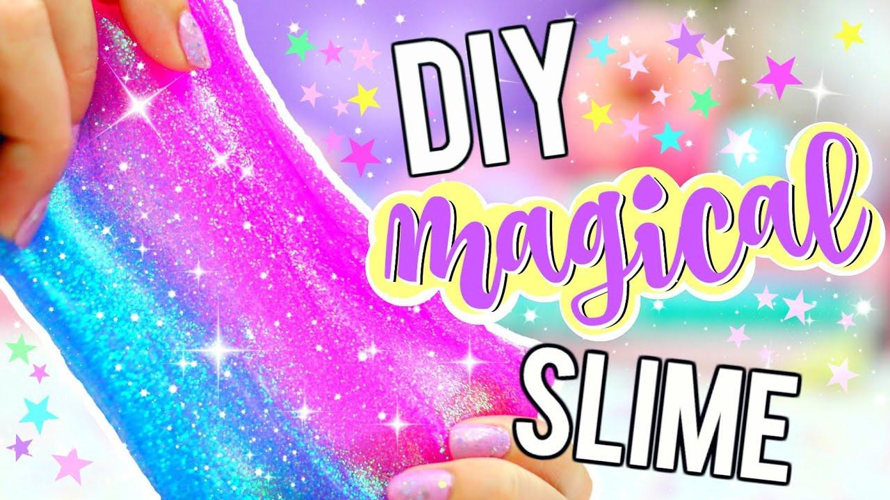 Slime Diy  DIY GLITTER SLIME How To Make MAGICAL UNICORN SLIME