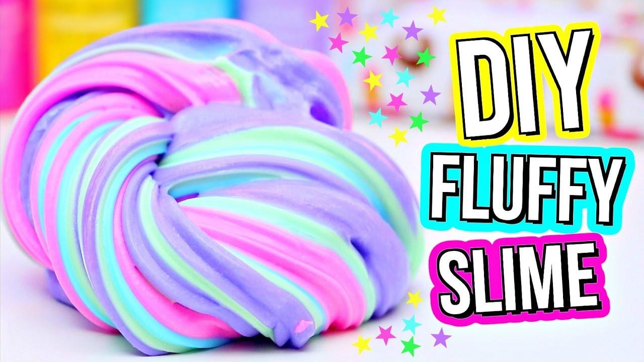 Slime Diy  DIY FLUFFY SLIME How To Make The BEST Slime