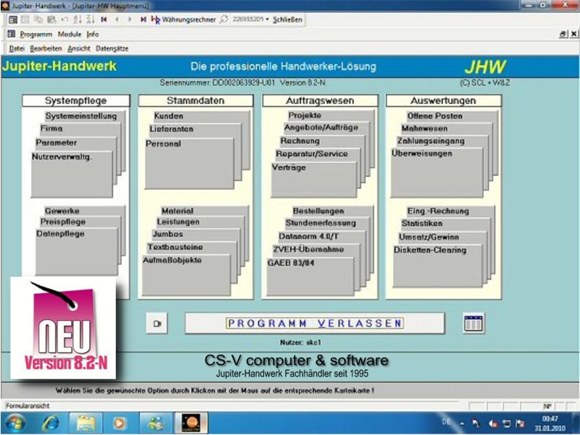 Smart Handwerk  Smarthandwerk 60 Tage kostenlos CS V Software