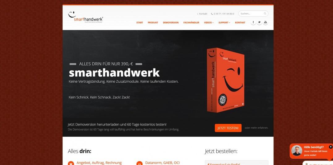 Smart Handwerk  Neue Homepage für smarthandwerk blue solution software GmbH