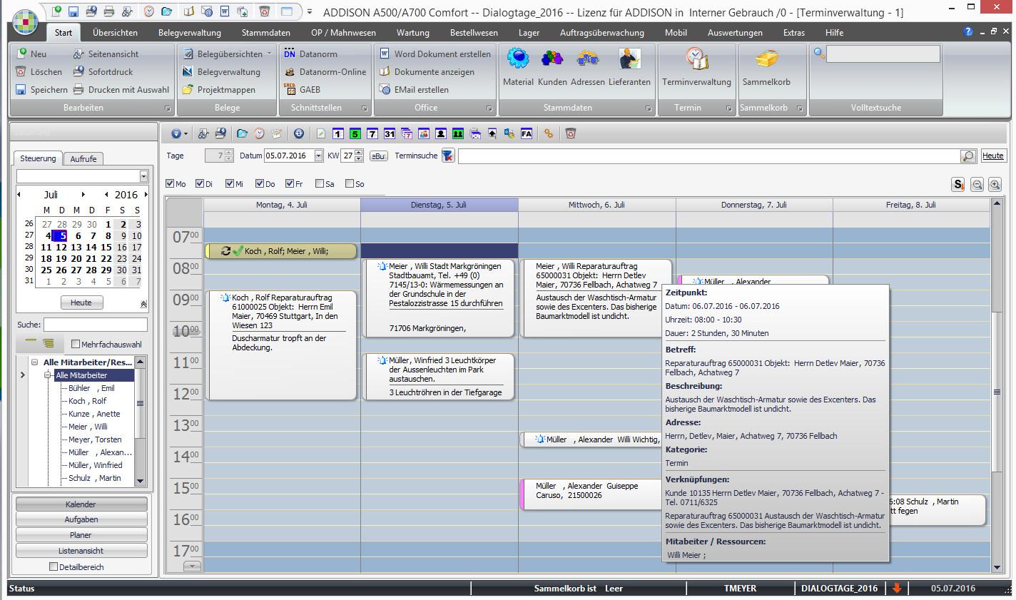 Software Handwerk  ADDISON Grundmodul Features Software fürs Handwerk