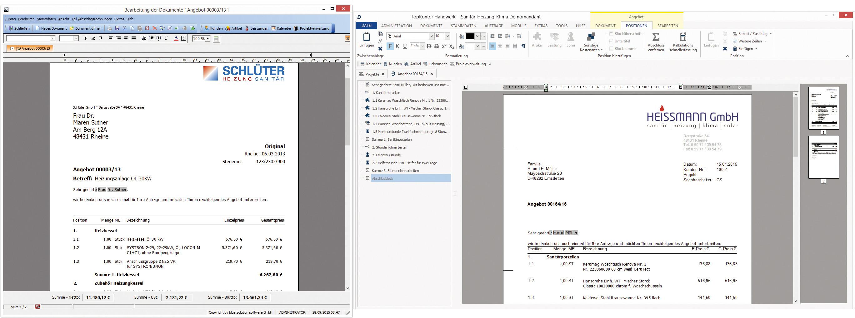 Software Handwerk  Neue Versionen der Software TopKontor Handwerk TopKontor