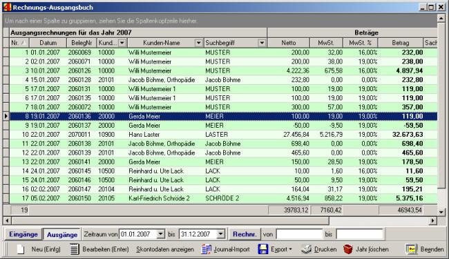 Software Handwerk  Rechnungsbuch