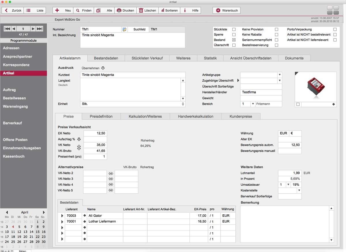 Software Handwerk  Software McBüro Handwerk Zeiterfassung Fliesenleger