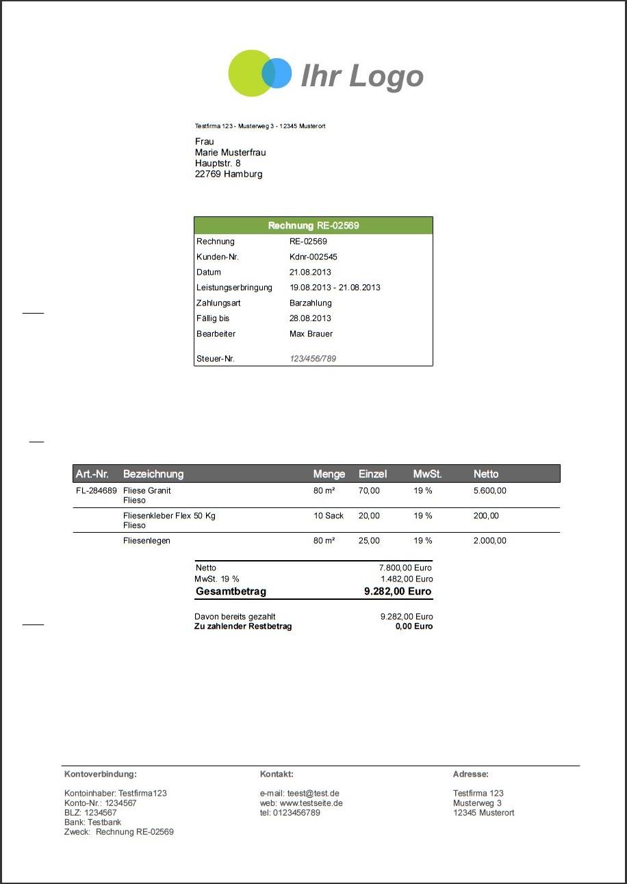 Software Handwerk  Software für Handwerker Angebote Rechnungen und Mahnungen