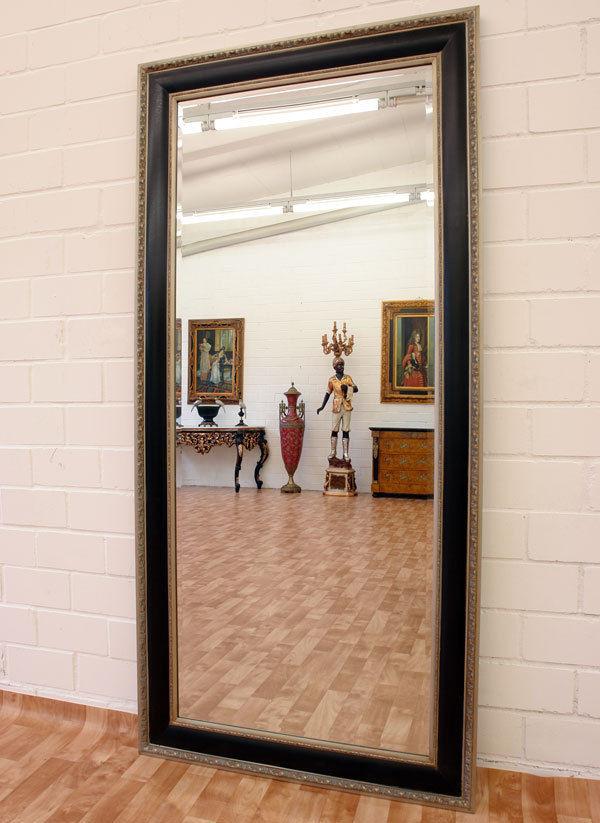 Spiegel Kaufen  WANDSPIEGEL SILBER SCHWARZ ca 184x82cm ANKLEIDE SPIEGEL