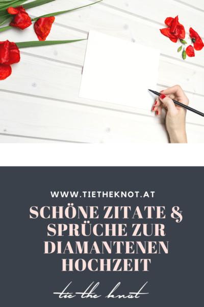Spruch Zur Diamantenen Hochzeit  Diamantene Hochzeit Sprüche Zitate und Gedichte