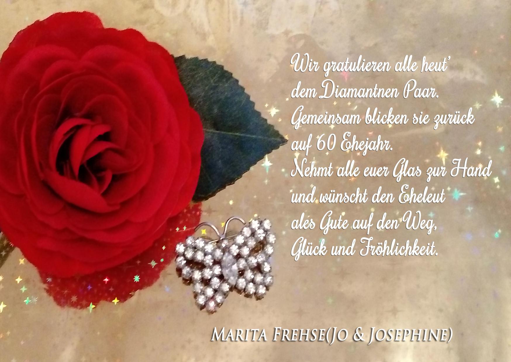 Spruch Zur Diamantenen Hochzeit  diamantene hochzeit sprueche auf karten