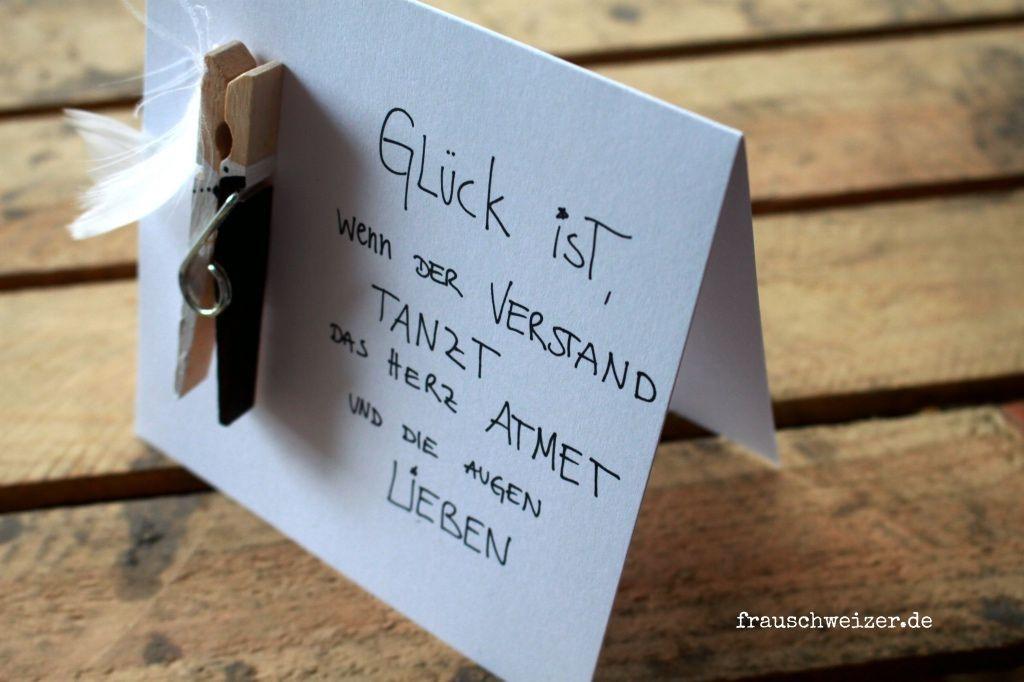 Sprüche Hochzeit Karte  handgemachte Hochzeits Karten von FrauSchweizer im