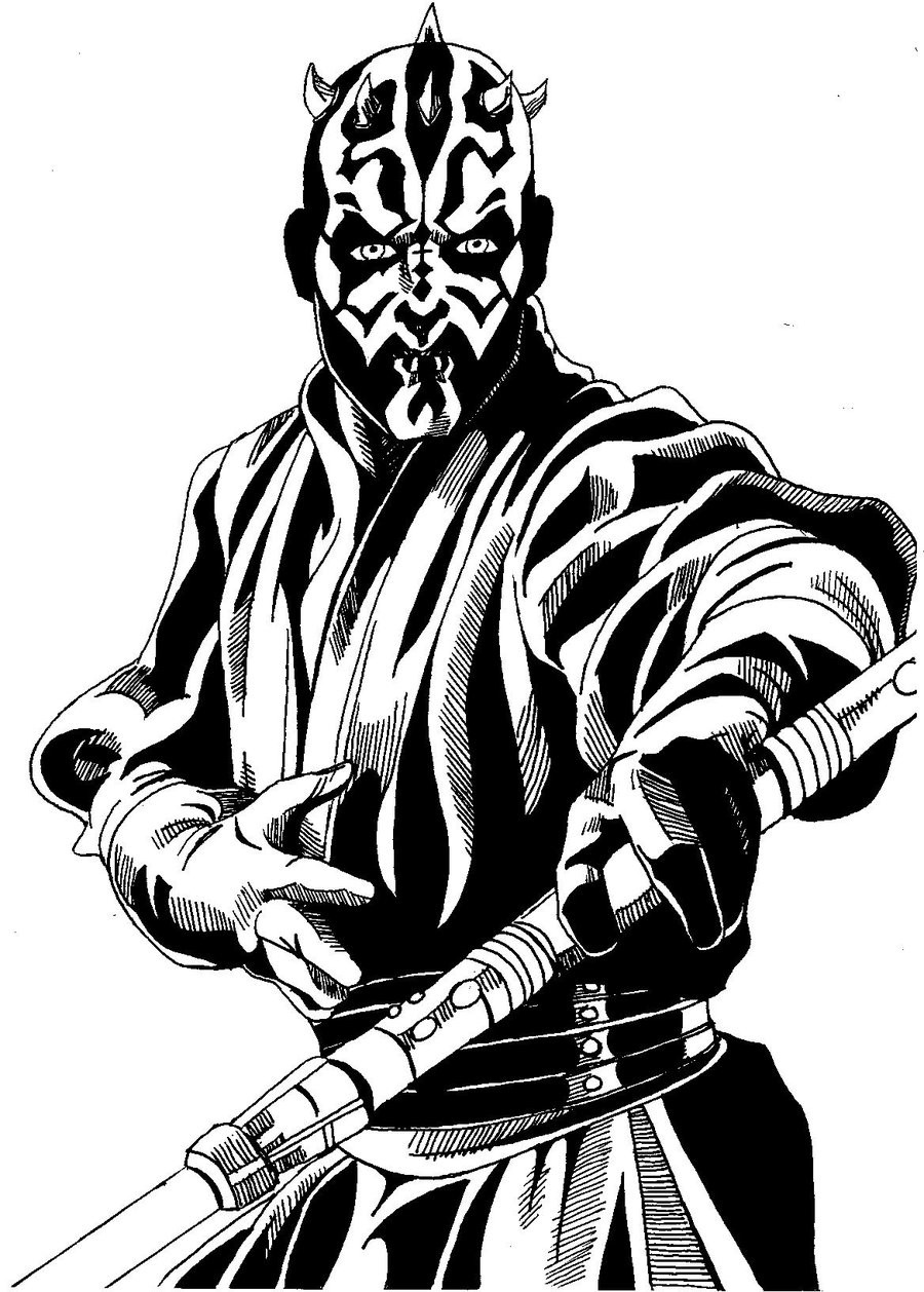 darth maul coloring pages - 756×1057