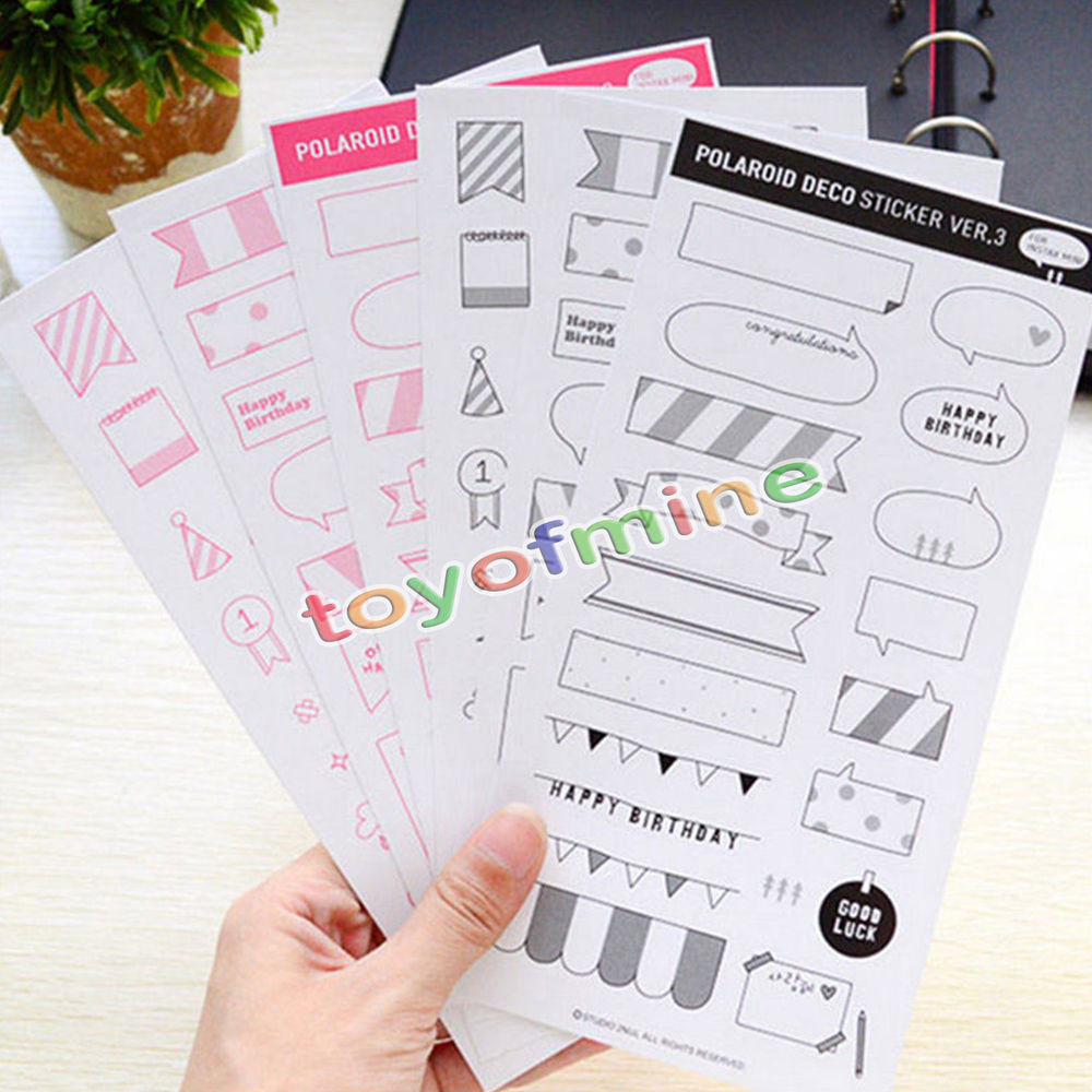 Sticker Diy  6 Sheets DIY Calendar Paper Sticker Scrapbook Diary