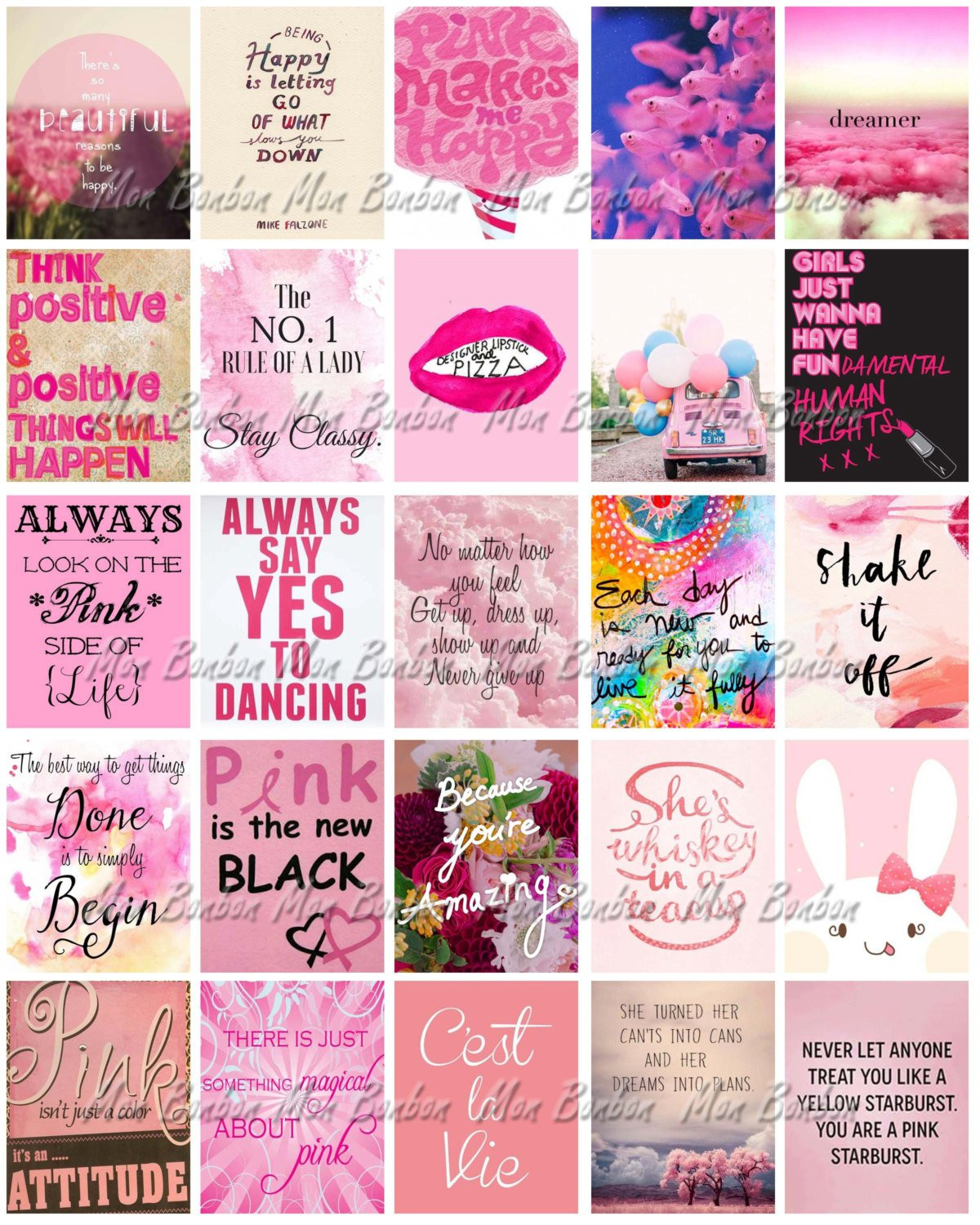 Sticker Diy  Pink Printable Life Planner Sticker Sheet DIY Print at Home