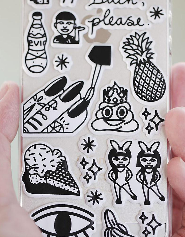 Sticker Diy  PANTAINANAS DIY Sticker iPhone Case