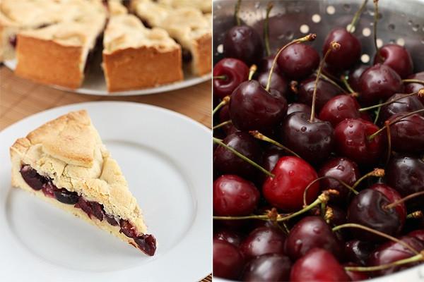 Süßkirschen Kuchen  Baskischer Kuchen — Rezepte Suchen