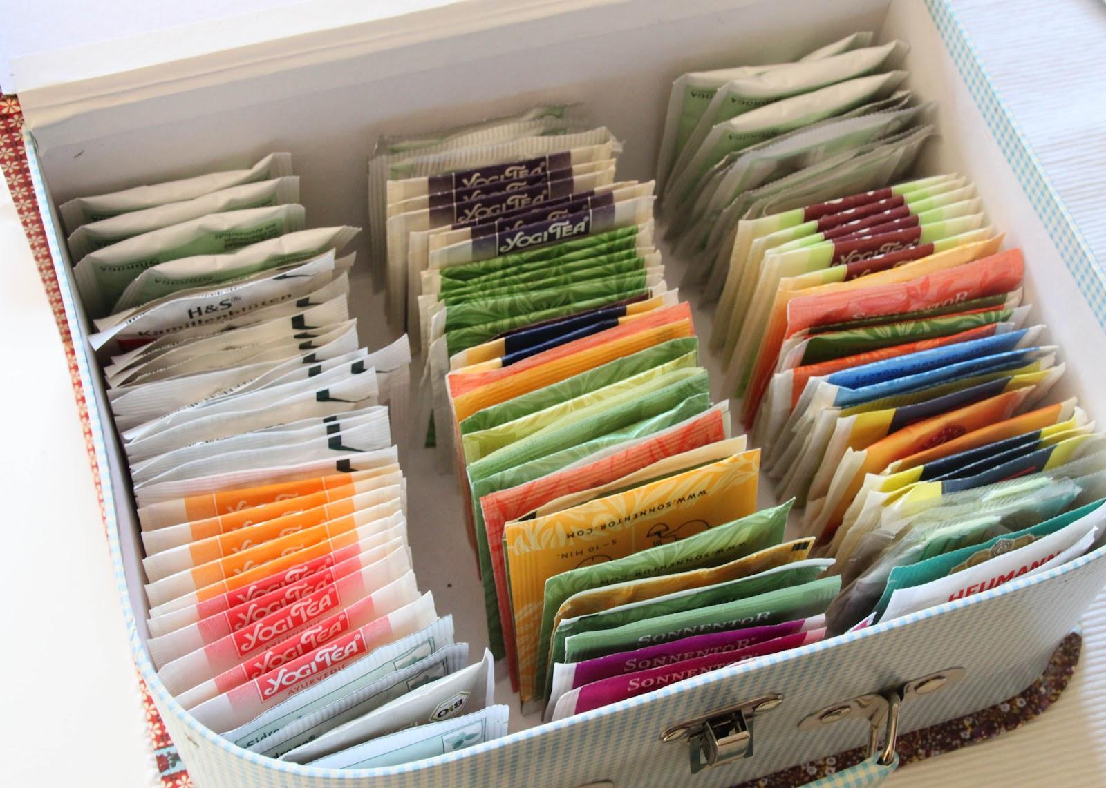 Tee Aufbewahrung Diy  It´s Teatime Teebeutel aufbewahren ordnungsliebe