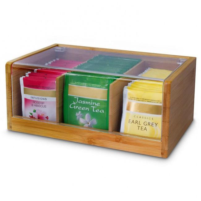 Tee Aufbewahrung Diy  Bambus Teebox 3 Fächer