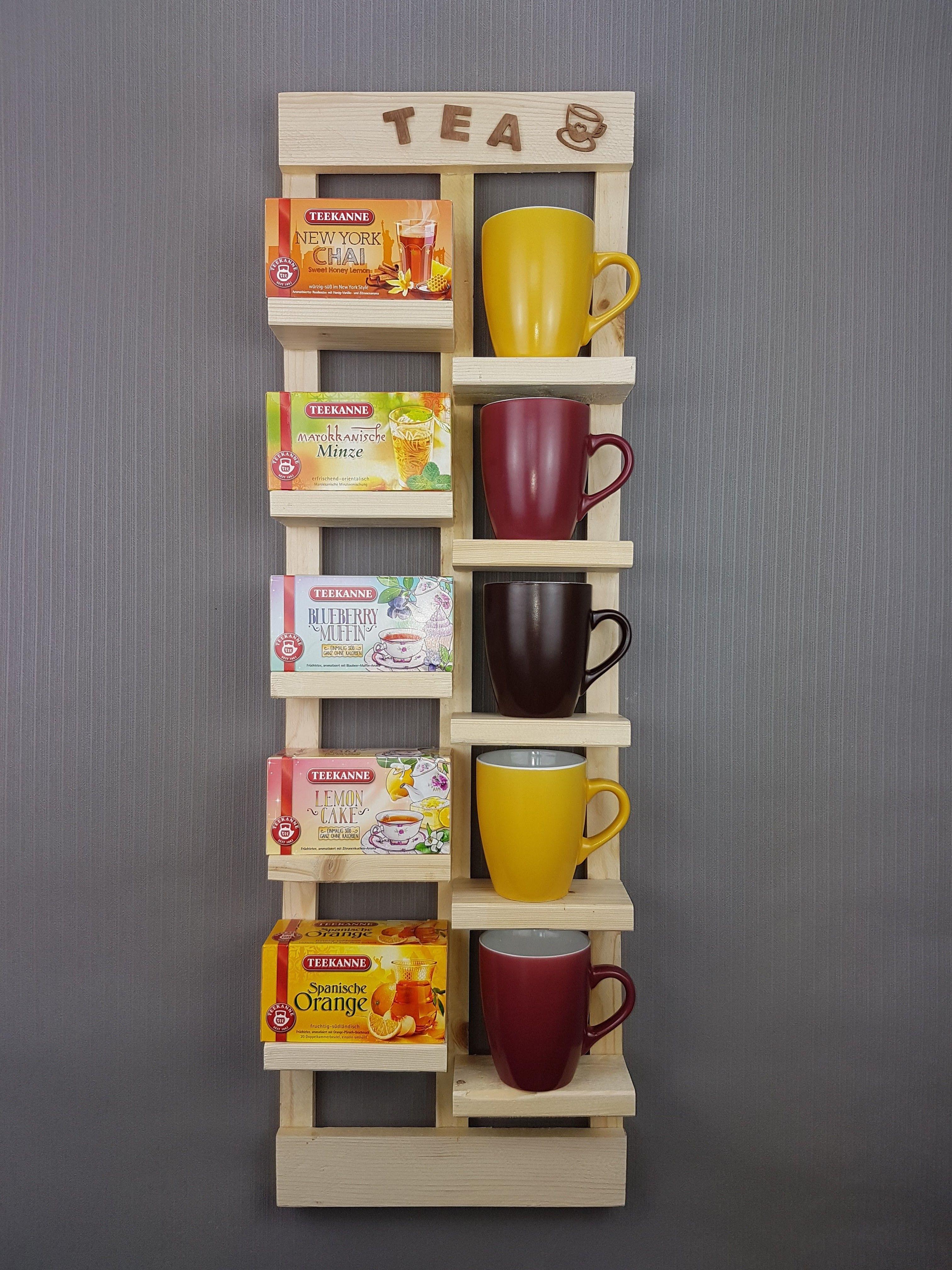Tee Aufbewahrung Diy  Tee Regal Upcycling Einzigartiges Tee Regal welches du
