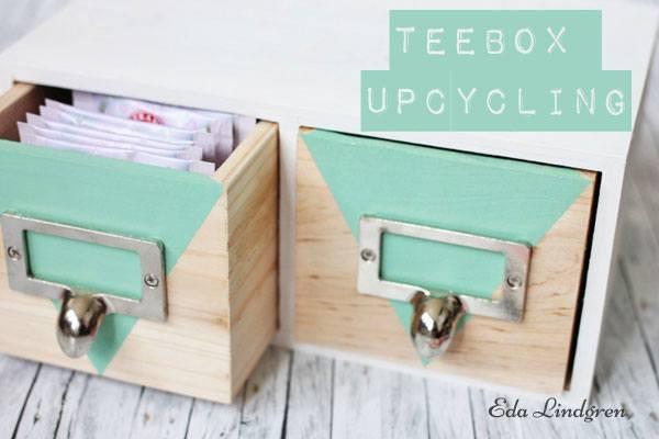 Tee Aufbewahrung Diy  Tee Box Upcycling HANDMADE Kultur