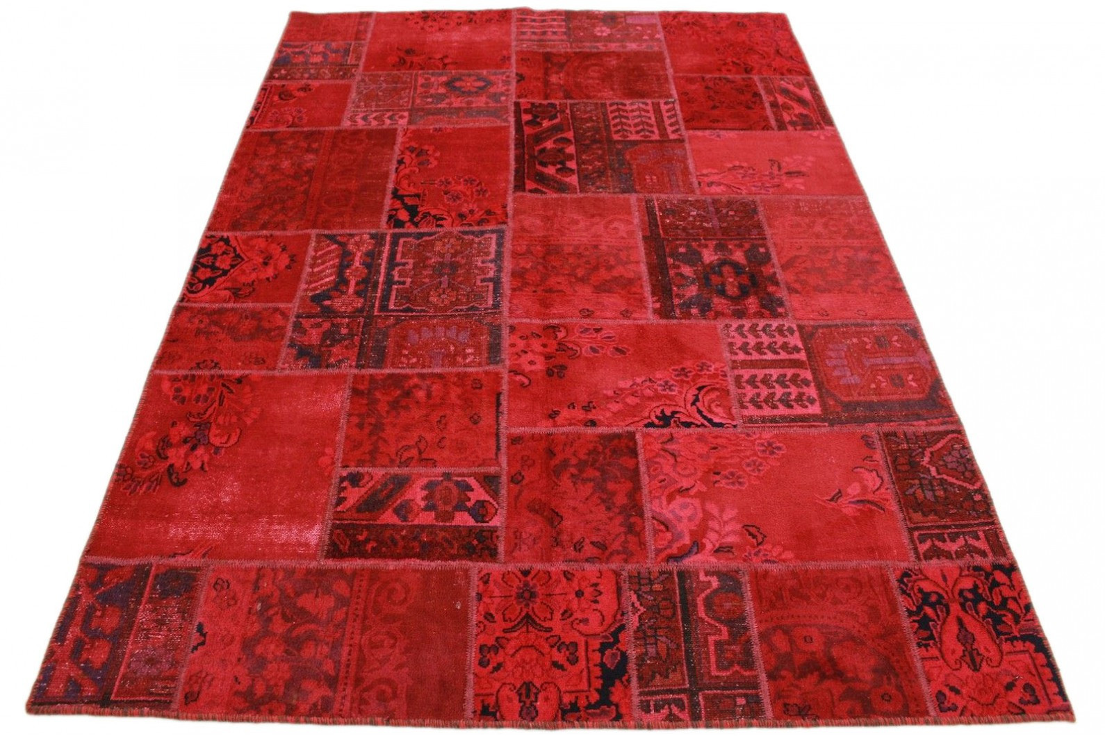 Teppich Rot  Patchwork Teppich Rot in 240x160cm 1001 2148 bei