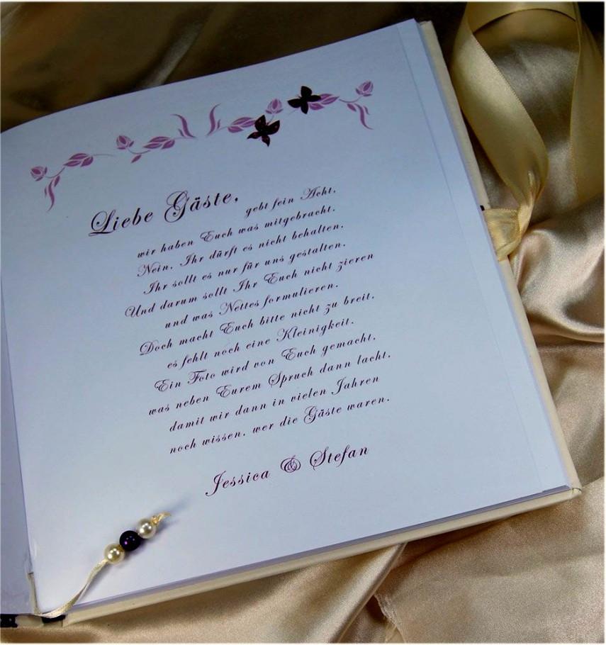 Text Gästebuch Hochzeit  Große Von Gastebuch Hochzeit Spruch Erstaunlich Text