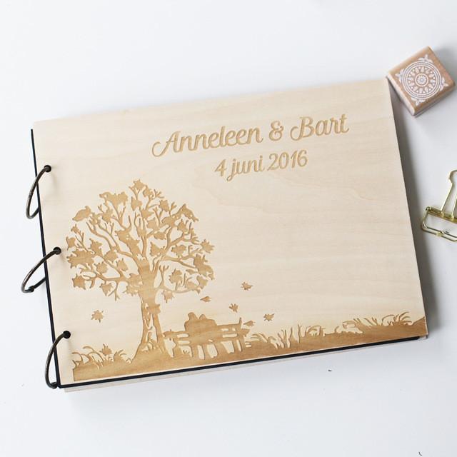 Text Gästebuch Hochzeit  Gravur baum hochzeit fotoalbum benutzerdefinierte Holz
