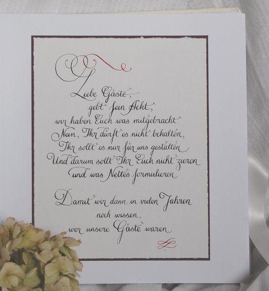 Text Gästebuch Hochzeit  Gästebuch Hochzeit Pinterest