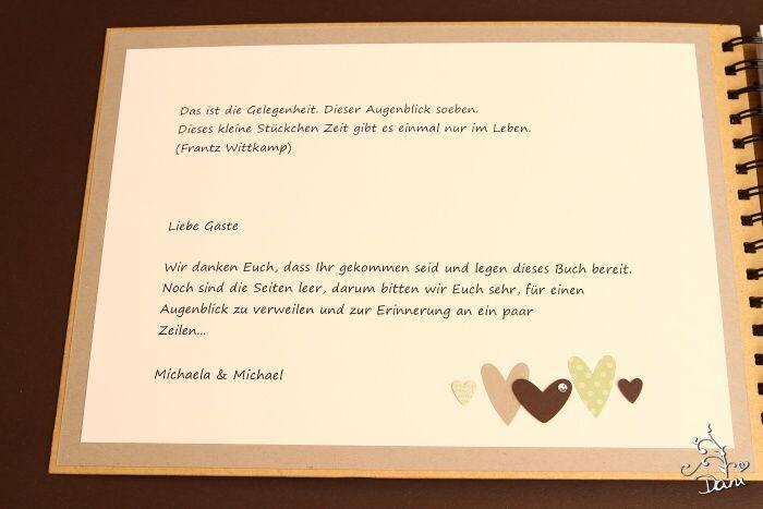 Text Gästebuch Hochzeit  Gästebuch