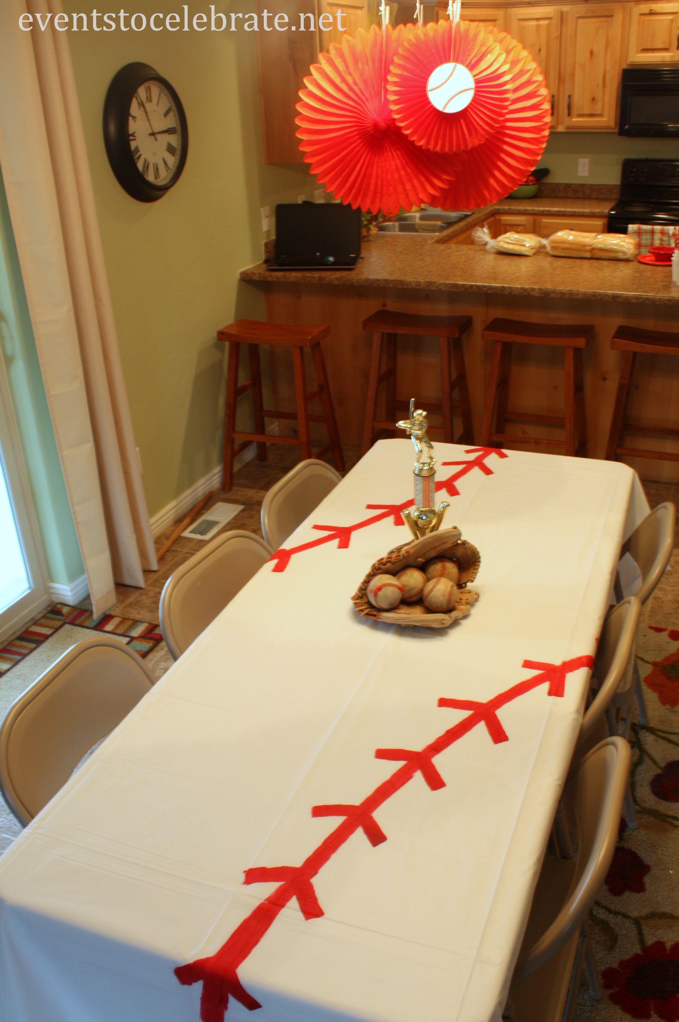 Theme Diy  DIY Baseball Tablecloth Events To Celebrate