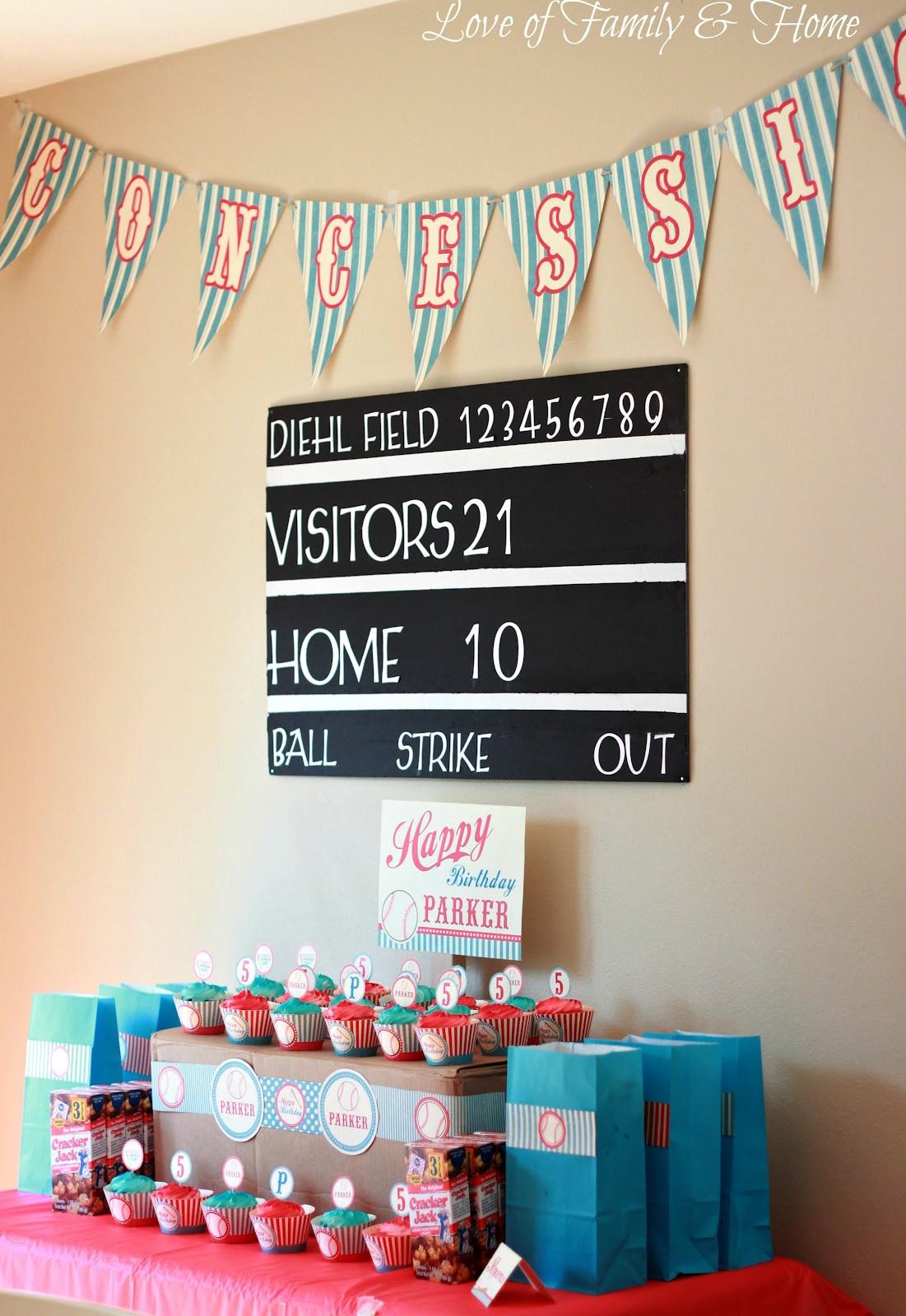 Theme Diy  DIY Baseball Themed Birthday Party Love of Family & Home