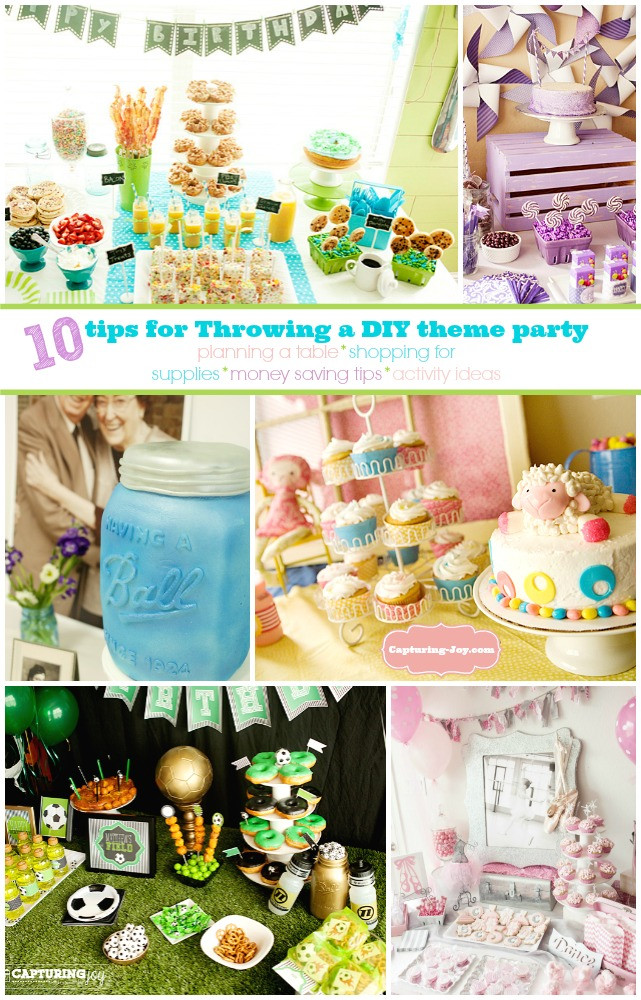 Theme Diy  10 tips for Throwing a DIY theme party