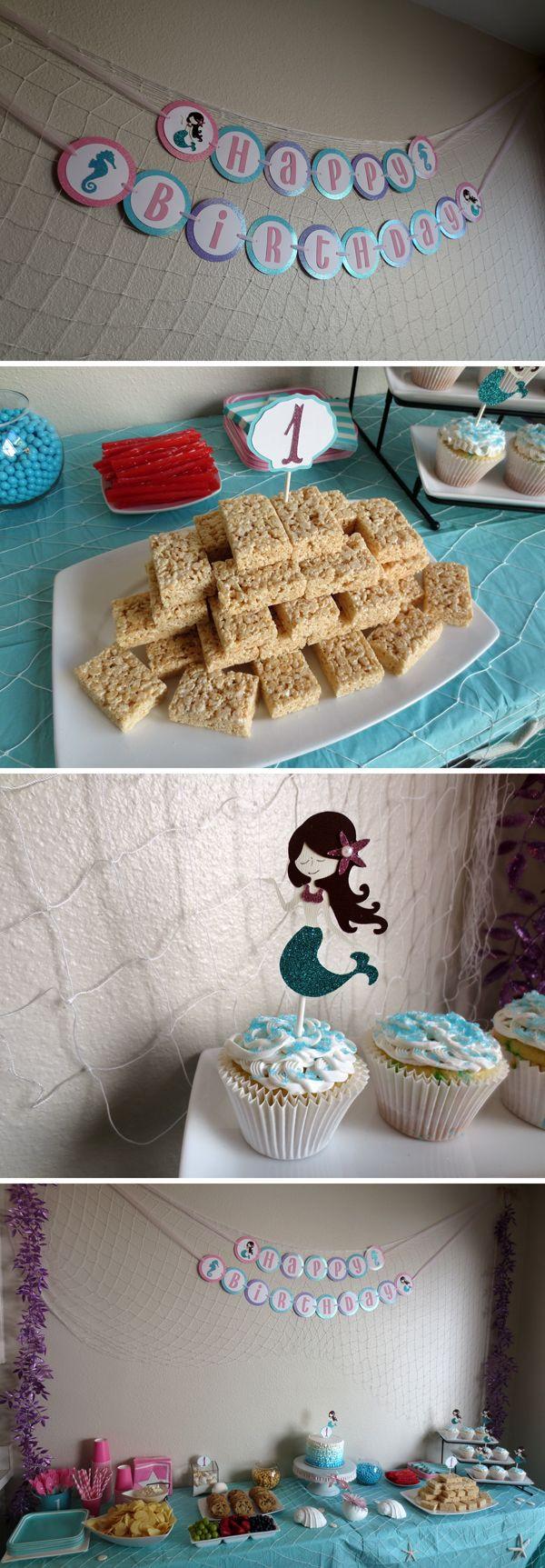 Theme Diy  DIY bud friendly Mermaid themed first birthday party