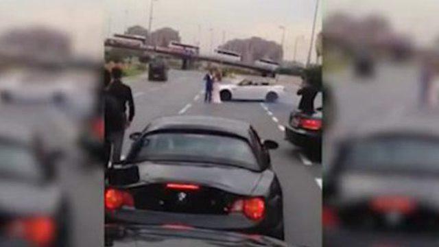Hochzeit Autobahn