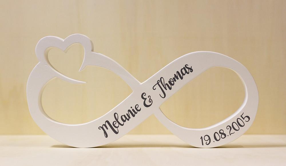 Unendlichkeitszeichen Hochzeit  Hochzeitsdeko Tischdeko Hochzeit Unendlichkeitszeichen