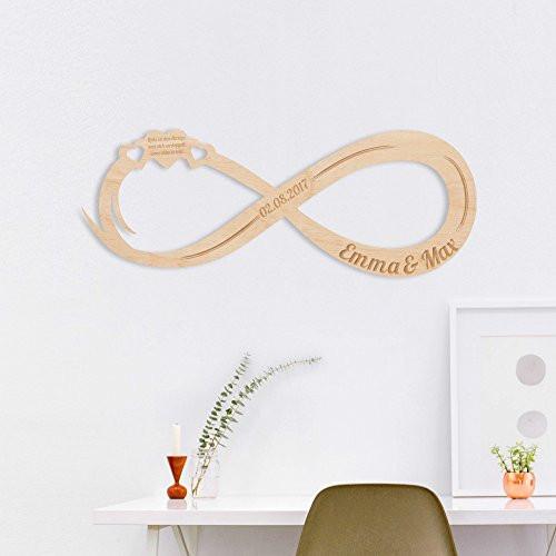 Unendlichkeitszeichen Hochzeit  Unendlichkeitszeichen aus Holz – Das Zeichen der Liebe