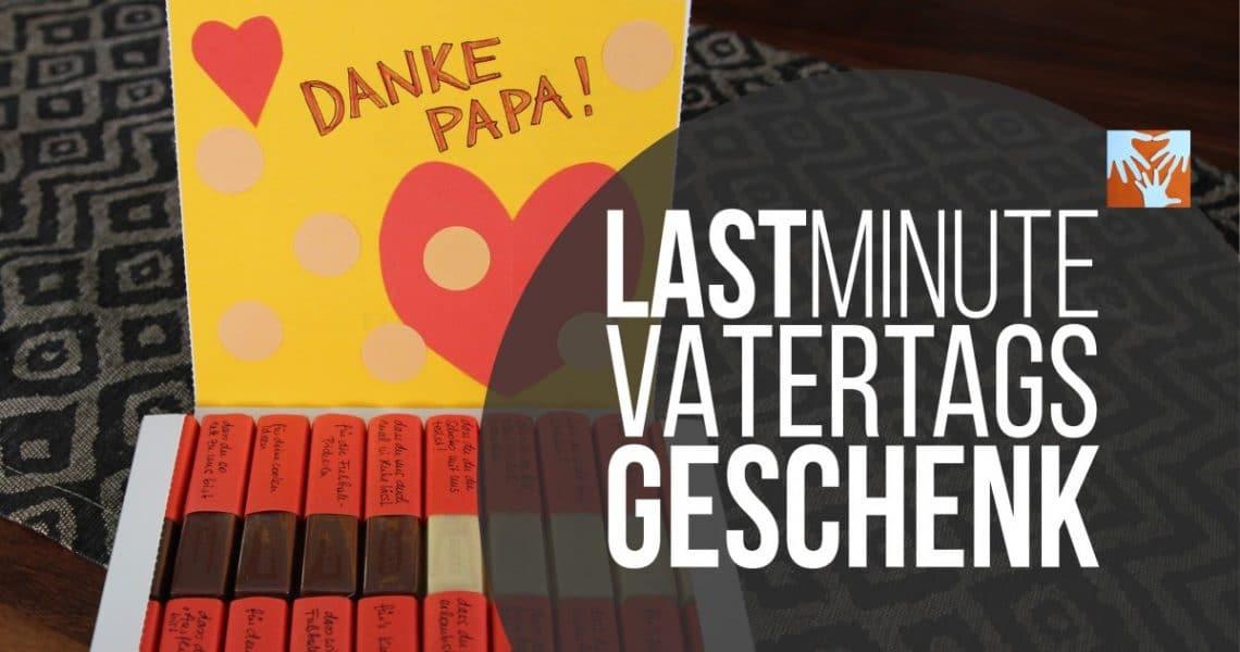 Vatertagsgeschenk Diy  Last Minute Vatertagsgeschenk süß personalisiert und