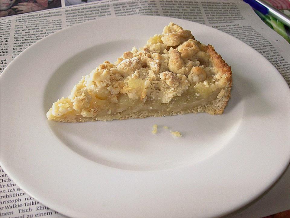 Vegan Kuchen  Veganer Apfel Streusel Kuchen von arranee