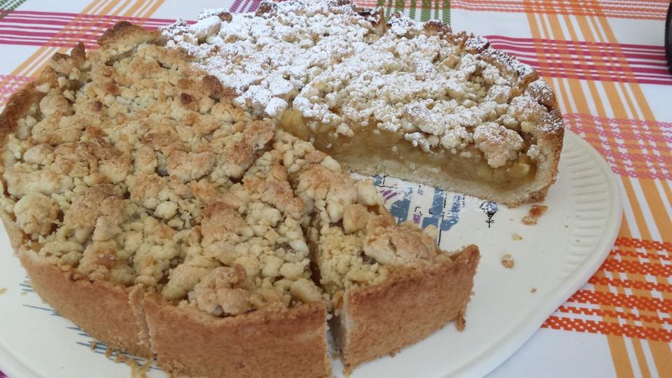Vegan Kuchen  Veganer Apfel Streusel Kuchen Rezept mit Bild