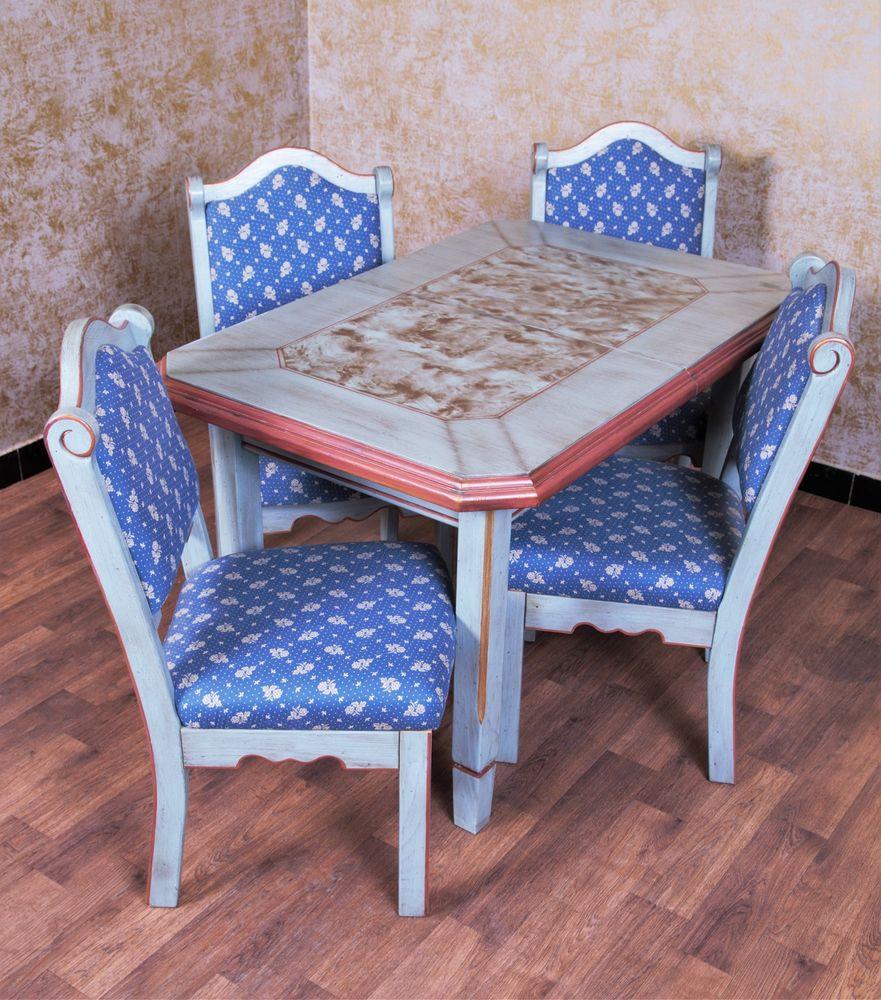 Voglauer Esstisch  Voglauer Anno 1700 Altblau Tisch Esstisch Stühle Landhaus