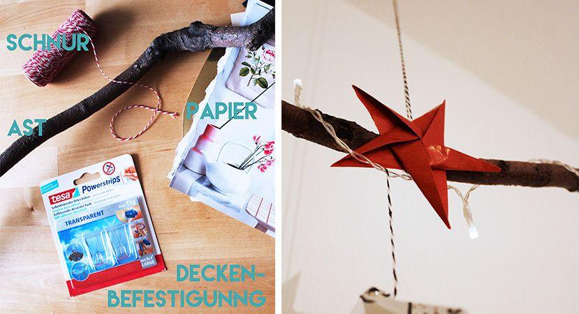 Weihnachts Diy  Origami Anleitung Origami Diamant zu Weihnachten basteln