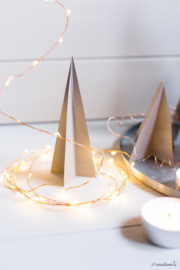 Weihnachts Diy  Weihnachtliche Tischdeko schnell & einfach DIY