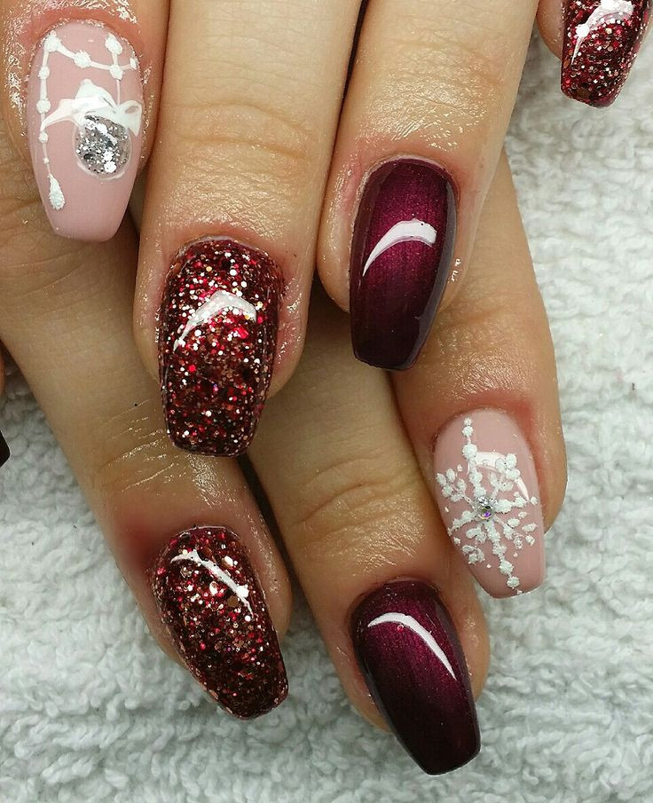 Weihnachts Nageldesign  Nail Design Fullcover Winter Christmas