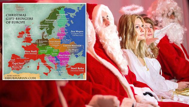 Wer Bringt Die Geschenke In Spanien?  Karte zeigt wer in Europa Geschenke bringt