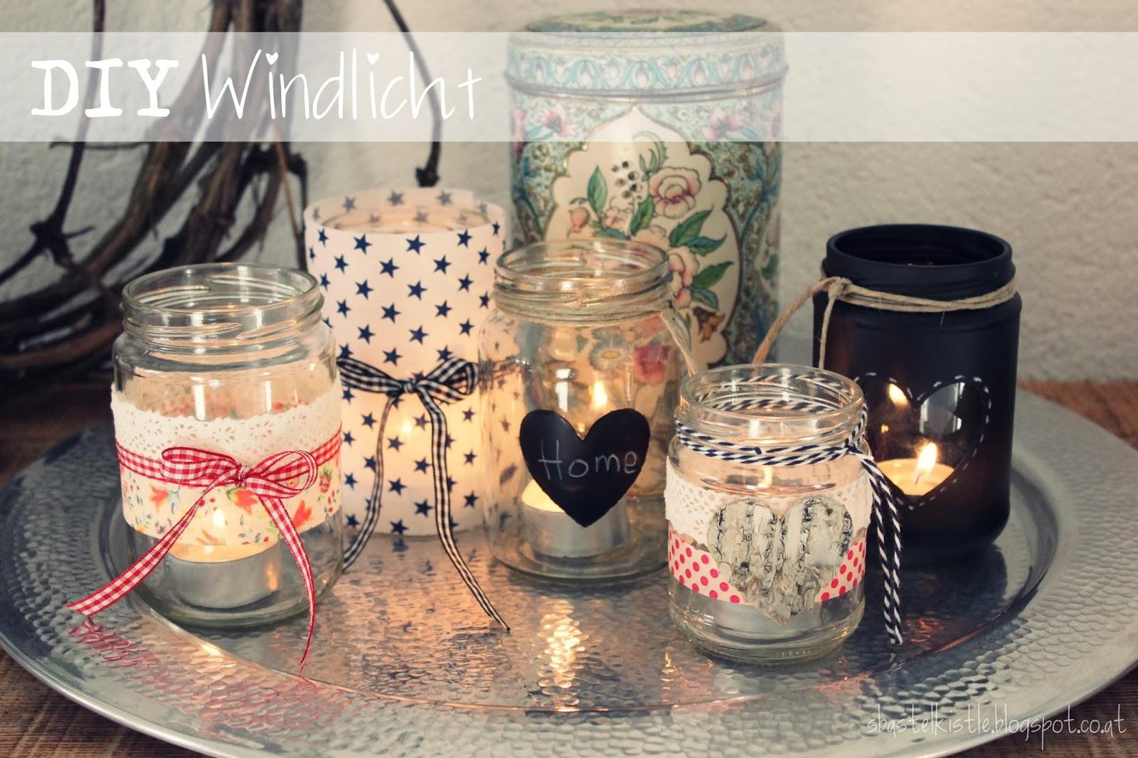 Windlicht Diy  s Bastelkistle DIY Windlicht