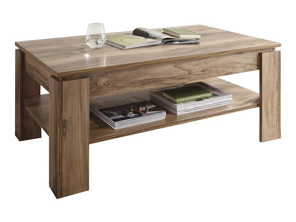 Wohnzimmer Tisch  TrendTeam Universal Couchtisch Nussbaum Satin H 47