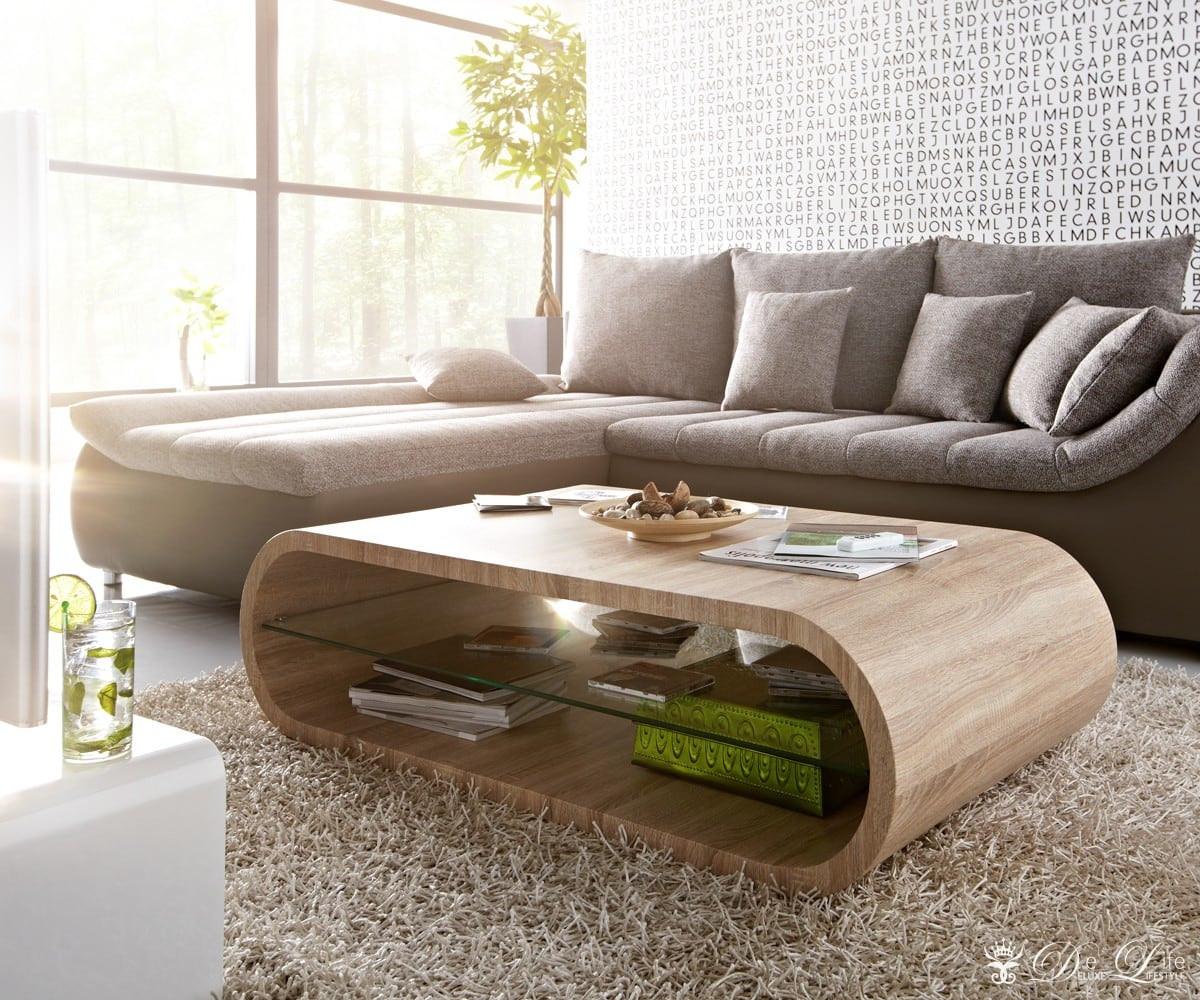 Wohnzimmer Tisch  Wohnzimmertisch Zoey Eiche Sonoma Dekor 130x75cm