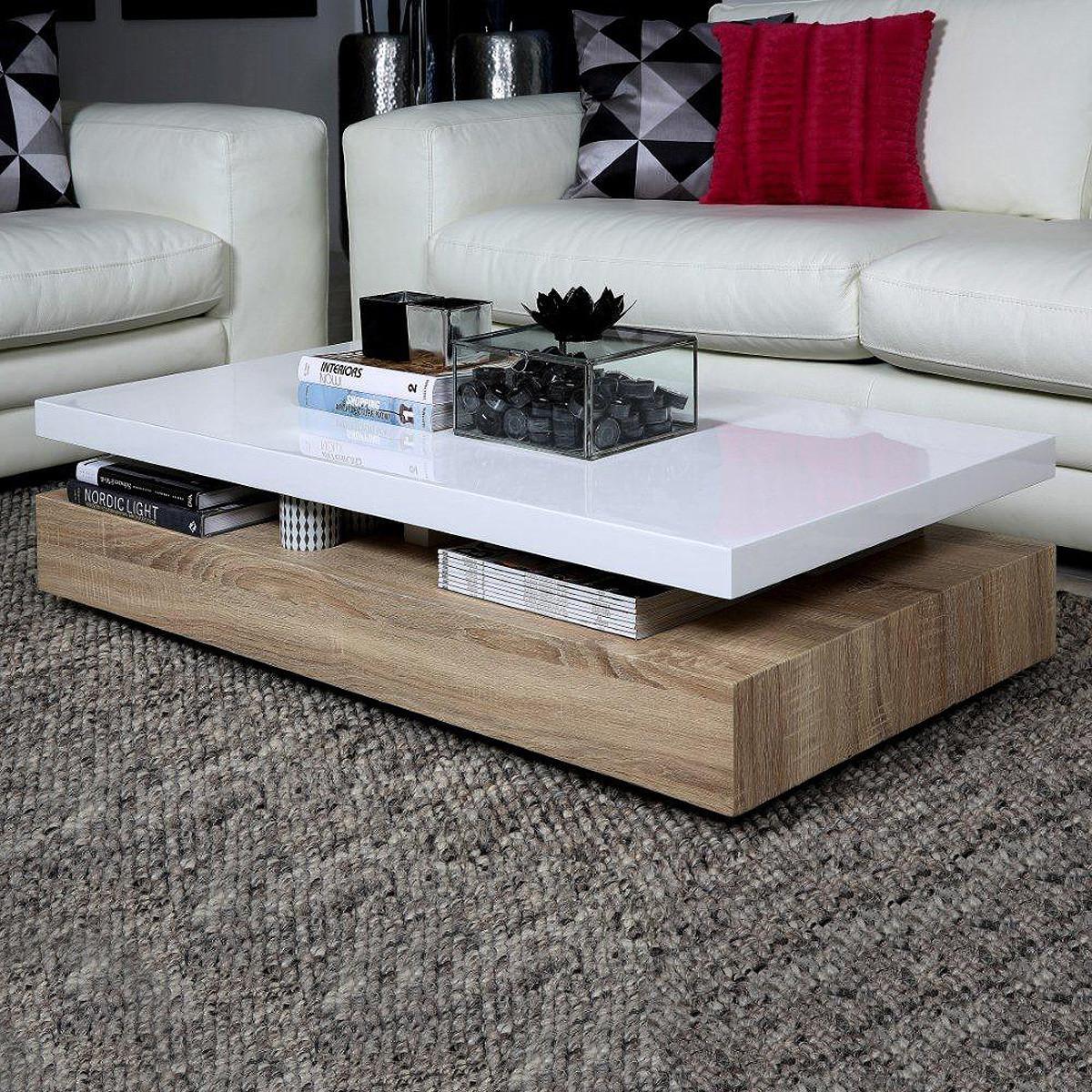 Wohnzimmer Tisch  Actona Couchtisch Malakit WEISS Wohnzimmer Tisch Holztisch