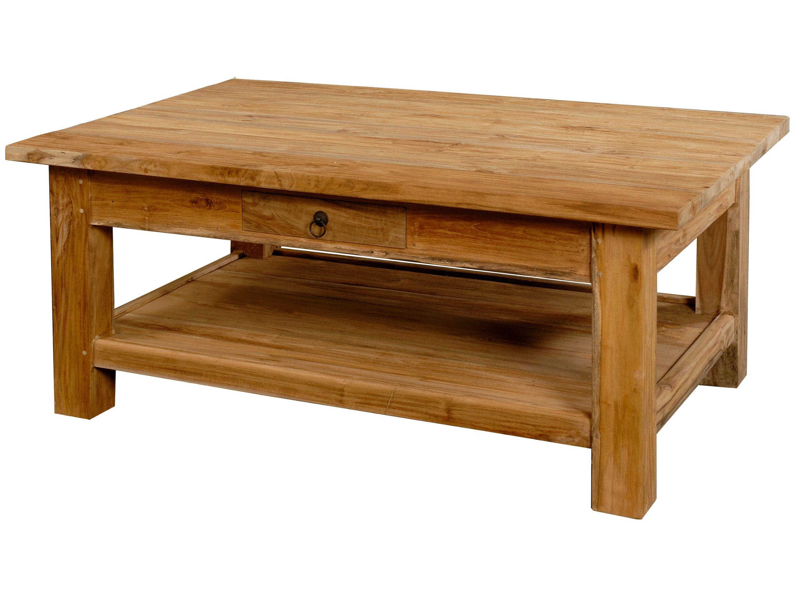 Wohnzimmer Tisch  Wohnzimmertisch Teak 120x80 · Krines Home