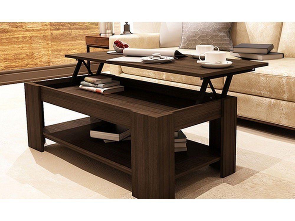 Wohnzimmer Tisch  Couchtisch mit Speicherung Regal Wohnzimmertisch