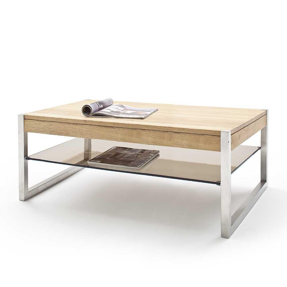 Wohnzimmer Tisch  Wohnzimmertisch Liestal aus Eiche Massivholz